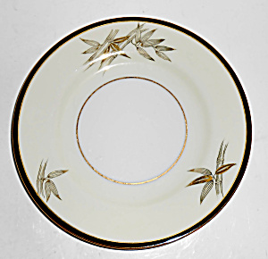 Wako Japan Porcelain China #2403 Bamboo W/gold Bread Pl