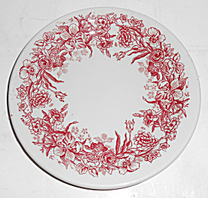 Tepco Restaurant China Red Floral Bread Plate