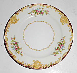 Noritake Porcelain China Mystery 175 W/gold Bread Plate