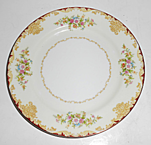 Noritake Porcelain China Mystery 175 W/gold Salad Plate