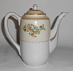 Mk Porcelain China Occupied Japan Floral Demi Coffeepot