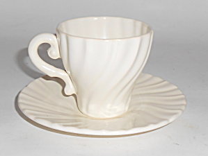 Franciscan Pottery Coronado Satin Ivory Demi Cup Saucer