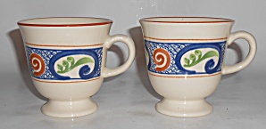 Franciscan Pottery Calypso Pair Cups