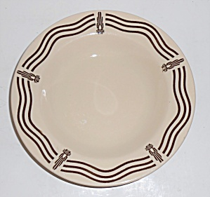Iroquois China Restaurant Ware Art Deco Rimmed Soup