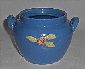 Coors Pottery Rosebud Blue Utility Jar