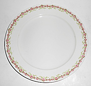 Chas Field Haviland Limoges Pink Roses Dinner Plate