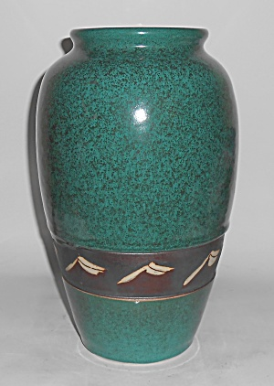 Early Bruning Studio Pottery Seattle 11in Vase -unusual