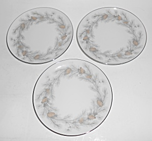 Sango Japan China Porcelain Sierra Pines 3 Bread Plates (Image1)