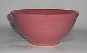 Bauer Pottery Plain Ware Dusty Rose #18 Mixing Bowl