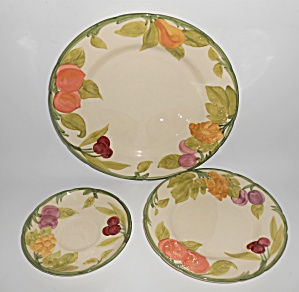 Franciscan Pottery Fresh Fruit Set/3 Plates (Image1)