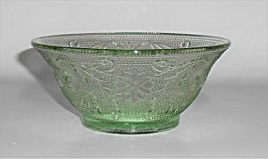 Indiana Glass Tiara Green Sandwich Deep Bowl