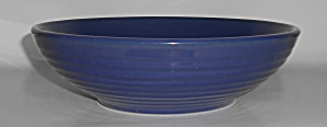 Bauer Pottery Ring Ware Cobalt Low Salad Bowl