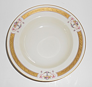 Heinrich & Co Porcelain Pink Roses W/gold Soup Bowl