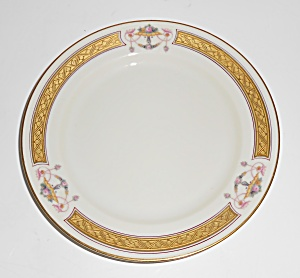 Heinrich & Co Porcelain Pink Roses W/gold Bread Plate