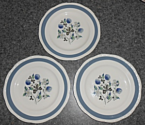 Alfred Meakin China Blue Clover Set/3 Salad Plates