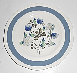 Alfred Meakin China Blue Clover Bread Plate