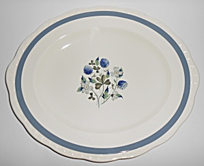 Alfred Meakin China Blue Clover Platter