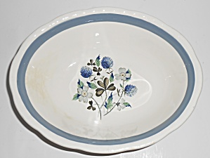 Alfred Meakin China Blue Clover Vegetable Bowl