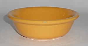 Bauer Pottery Plain Ware Yellow #1 Pudding Bowl