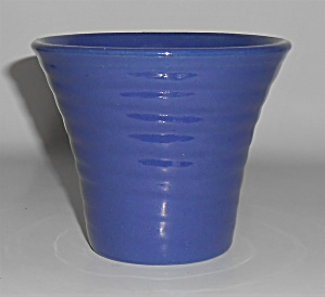 Bauer Pottery Ring Ware Early 4in Cobalt Flower Pot