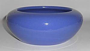 Bauer Pottery Hi-Fire Cobalt Bulb Bowl w/Bonus Flower (Image1)