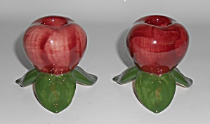 Franciscan Pottery Apple U.s.a. Candle Stick Holder Set