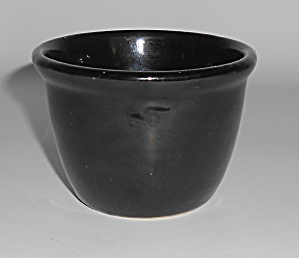 Bauer Pottery Plain Ware Black Custard Cup