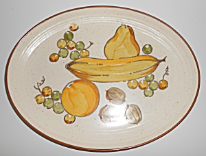 Metlox Pottery Poppy Trail Tropicana Platter