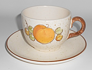 Metlox Pottery Poppy Trail Tropicana Cup & Saucer Set