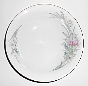 Jamestown China Porcelain Pink Yellow Floral Gold Soup