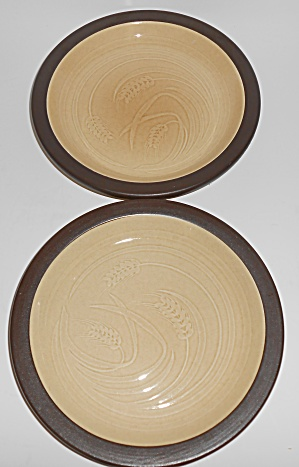 Franciscan Pottery Wheat Bounty Pair Bread Plates