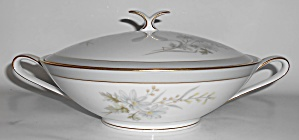 Noritake Porcelain China Michelle 6021 W/gold Covered V