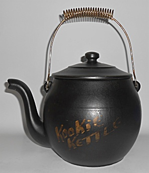 Mccoy Pottery Black Kookie Kettle Cookie Jar