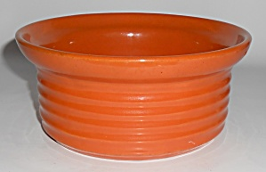 Bauer Pottery Ring Ware Orange Casserole Base