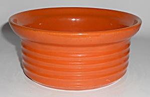 Bauer Pottery Ring Ware Orange Casserole Base (Image1)