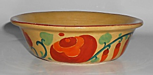 Bauer Pottery Yellow Ware #2 Glaze Decorated Pudding Bo
