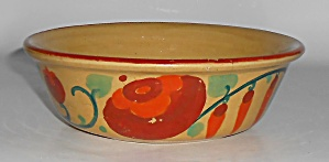 Bauer Pottery Yellow Ware #2 Glaze Decorated Pudding