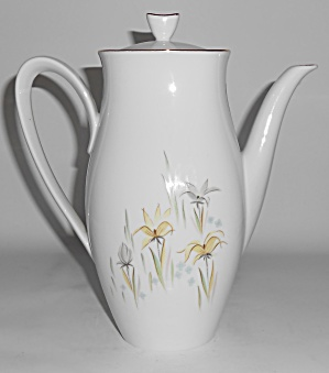 Rorstrand Porcelain China Floral w/Gold Garden Coffee (Image1)