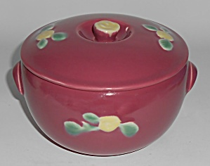 Coors Pottery Rosebud Red Triple Service Casserole