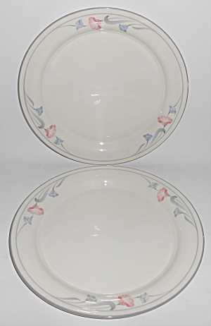 Lenox China Pr Glories On Grey Dinner Plates