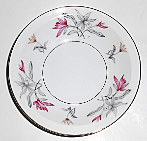 Meito China Porcelain Japan Red Floral W/gold Fruit