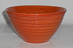 Bauer Pottery Ring Ware Red/brown #24 Mixing Bowl