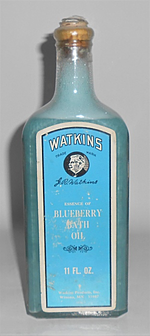 Watkins Products Blueberry Bath Oil Cork Top Bottle