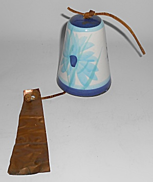 Pacific Stoneware Art Pottery Floral Wind Chime / Bell