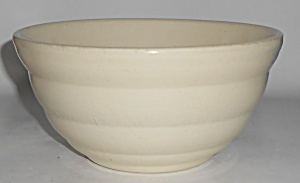 Bauer Pottery Gloss Pastel Kitchenware White #24 Mixing