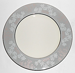 Castleton Fine China Lace Platinum Dinner Plate (Image1)