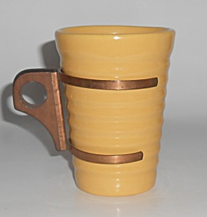 Bauer Pottery Ring Ware 12 Oz Yellow Tumbler