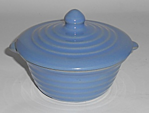 Bauer Pottery Ring Ware Delph Covered Baker