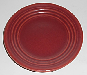Bauer Pottery Ring Ware Burgundy Bread Plate