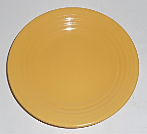 Bauer Pottery Ring Ware Yellow Bread Plate